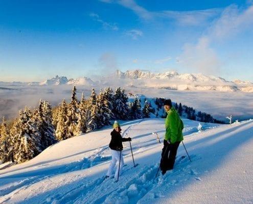 2 Skifahrer im Schnee