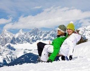 Schlittenfahrer im Schnee