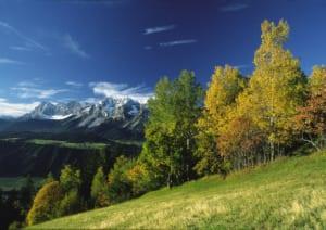 Naturlandschaft mit Bergen in der Ferne
